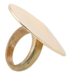 【送料無料】ブレスレット ゼストパネルハードゴールドリングzest dichiarazione pannello disco anello doro