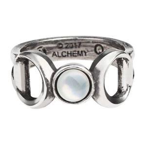 【送料無料】ブレスレット ゴシックトリプルピューターリングブランドalchemy gothic triplice dea peltro anello nuovo di zecca