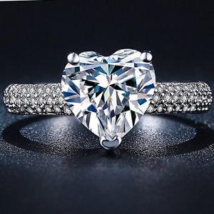 【送料無料】ブレスレット シルバー925 argento cuore strass anello di fidanzamento mis 51 53 55 58 60 una fede cristallo