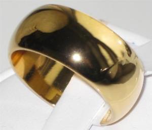 【送料無料】ブレスレット ktゴールドイエローメッキl012 linea uomo donna ampia 8mm fede nuziale ring 18kt placcato in oro giallo fortemente