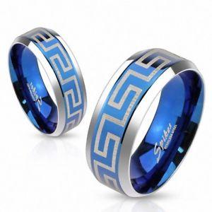 【送料無料】ブレスレット bague acier bleu labyrinthebague acier bleu labyrinthe