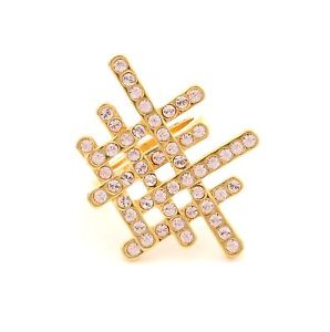 【送料無料】ブレスレット スワロフスキークリスタルゴールデングリッドライトリングzest cristalli swarovski golden griglia anello chiaro