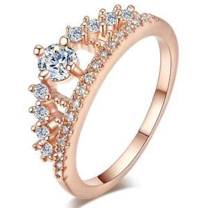 【送料無料】ブレスレット エンゲージメントラインストーンリングリングリングfidanzamento festa anello strass corona anelli da donna