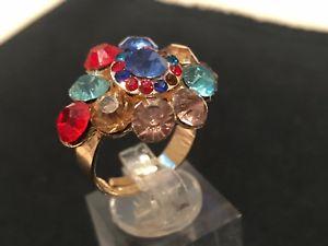 【送料無料】ブレスレット マルチカラーリングサイズpretty multicolore brillante anellosorprendente strassdimensioniespandibili o