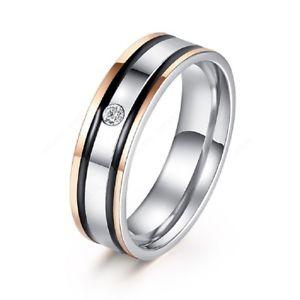 【送料無料】ブレスレット ステンレススチールリングkゴールドacciaio inox anello donna 18k placcato oro ricoperto con piccoli zirconi