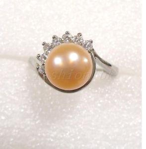 【送料無料】ブレスレット ピンクパールクリスマスリング8 mm rosa fw vero perla 18kgp lady star engagementl natale compleanno anello l n o p