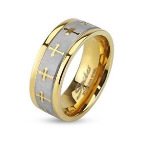 【送料無料】ブレスレット ステンレススチールシルバーセルティックリングanello in acciaio inossidabile argento 6mm larga dorato celtica croci 47 15 69 22