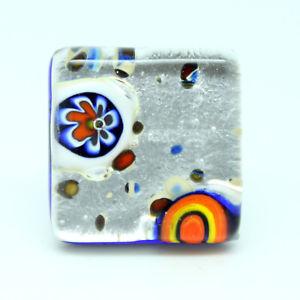 【送料無料】ブレスレット シルバーヴェネチアムラノガラスリングargento vetro di murano anello da venezia con millefiori