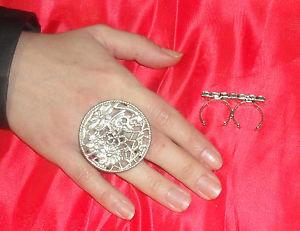 【送料無料】ブレスレット リングイタリアシルバーanello doppio dito tondo fiori bagno argento made italy