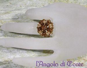 【送料無料】ブレスレット リングスワロフスキークリスタルidea regalo anello donna artigianale color rame cristalli swarovski originali