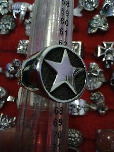 【送料無料】ブレスレット リングスチールサイズリングスカルリングanello stella acciaio misura 25 trendy anello con ring skull cav templari