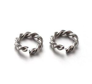 【送料無料】ブレスレット ステンレススチールバインディングリング20aperto per rilegatura anelli in acciaio inox 8mm filo spinato c6d