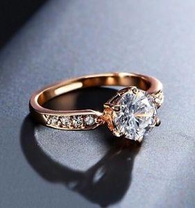 【送料無料】ブレスレット ゴールドメッキブリリアントカットktサイズローズ18k rose oro placcato taglio brillante 175 kt anello di fidanzamento cz taglia p