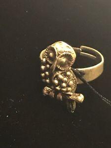 【送料無料】ブレスレット オスマンリングフクロウanello gufo in 3d ottoman in zama bagnato in argento etnico 80005603