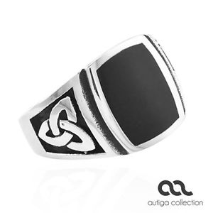 【送料無料】ブレスレット リングマンステンレスケルトノットmassonico anello uomo in acciaio inox celtica nodo masonic massiccio nero