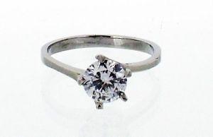 【送料無料】ブレスレット ステンレスサイズスチールacciaio inox anello di fidanzamento con grandi cz in 8 taglie r43