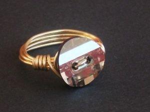 【送料無料】ブレスレット ワイヤメッキリングラップスワロフスキークリスタルfilo di cristallo placcato oro anello wrap realizzata con elementi swarovski crystal