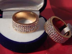 【送料無料】ブレスレット メモリテープリングスワロフスキーエレメントゴールドampio xl memory nastro anello con swarovski elementi * * oro * misura 18,19, 20