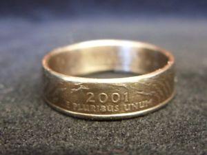 【送料無料】ブレスレット ハンドメイドコインロードアイランドrhandmade us coin anellomisura 2001, r 12 us 9, rhode island, r894