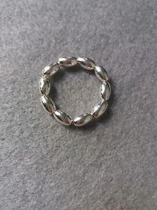 【送料無料】ブレスレット スターリングシルバーストレッチビーズスタッカブルリングfatto a mano argento sterling 925 stretch perline anello impilabile