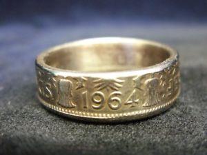 【送料無料】ブレスレット イギリスリングカットrmoneta regno unito fatto a mano anello 1964, taglia u 12 us 10 12, r903
