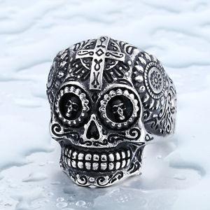 【送料無料】ブレスレット リングゴシックanillo gtico ring gothic skull calavera mexicana en acero inoxidable
