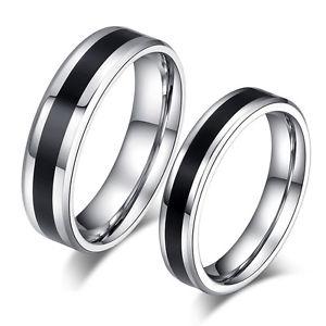 【送料無料】ブレスレット ステンレススチールリング2 fedi fedi nuziali vere bicol di fidanzamento fedi fedine anelli in acciaio inox