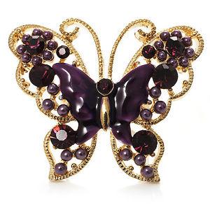 【送料無料】ブレスレット ナススロットルエナメルリングゴールドトーンgrande melanzana smalto farfalla ring gold tone