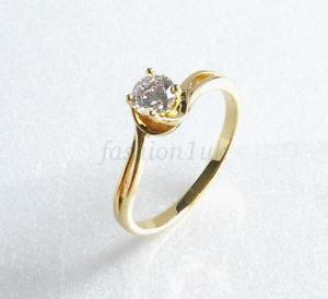 【送料無料】ブレスレット kゴールドメッキシンdonne ragazze 14k placcato oro giallo piccolo fidanzamento sottile anello 5mm