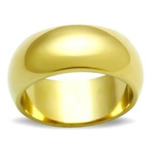 【送料無料】ブレスレット ktl012 linea uomo donna ampia 8 mm fede nuziale ring 8 kt placcato in oro giallo fortemente