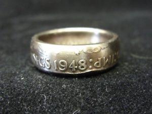 【送料無料】ブレスレット リングハンドイギリスサイズanello fatto a mano moneta regno unitotaglia 1948, p 12 us 7 34, r1260