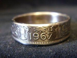 【送料無料】ブレスレット リングハンドメイドイギリスサイズアメリカanello fatto a mano moneta regno unitotaglia 1967, 11 34 x usa, r1057
