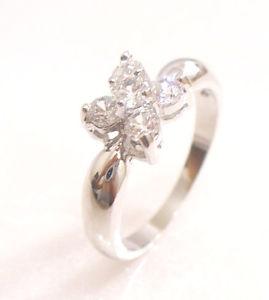 【送料無料】ブレスレット ホワイトエンゲージメントクリア×フラワーリングle donne placcato in oro bianco chiaro cz fidanzamento compleanno xmas fiore anello j k m n