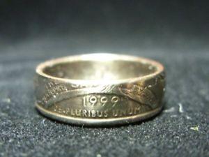 【送料無料】ブレスレット ハンドメイドコインリングコネチカットカットrhandmade us coin anello 1999, connecticut, taglia o us 7 14, r606