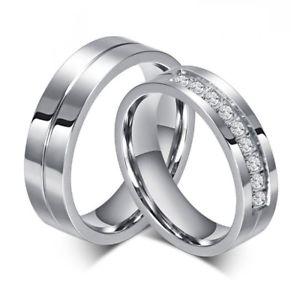 【送料無料】ブレスレット ユニオンリングステンレススチールunione anello acciaio inossidabile matrimonio fidanzamento uomo donna strass