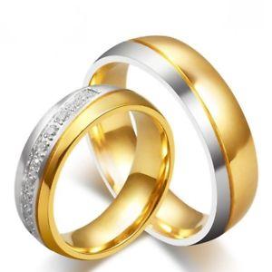 【送料無料】ブレスレット ユニオンゴールデンリングゴールドステンレススチールunione anello dorato oro sottile acciaio inossidabile matrimonio donna uomo