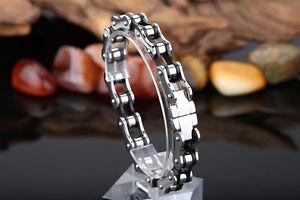 【送料無料】ブレスレット ブレスレットチェーンバイクバイクステンレススチールブレスレットファッションbracciale catena moto bici acciaio inox braccialetto idea regalo uomo donna moda