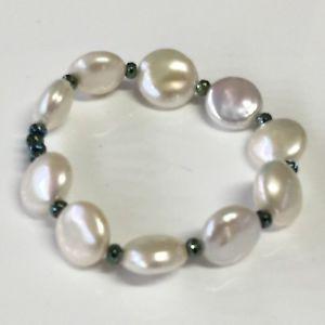 【送料無料】ブレスレット カフバロックダークグリーンbracciale perla barocca goyate elastico ipv verde scuro 002021