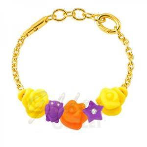 【送料無料】ブレスレット カフカラーアルミドロップゴールドbracciale donna morellato colours sabz345 alluminio colorato charms drops gold