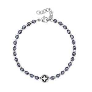 【送料無料】ブレスレット カフヘマタイトビーズkulto bracciale atlantic and ematite beads uomo kkman77