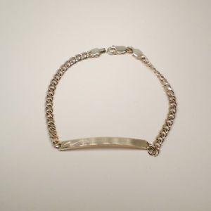 【送料無料】ブレスレット カフシルバービンテージコレクションプレートbracciale argento 925 vintage anno 1994 collezione targa lunghezza 20 cm 30097a