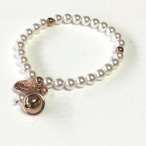 【送料無料】ブレスレット ゴムカフbracciale elastico chiama angeli di perle naturali coltivate ipv rame e ag925