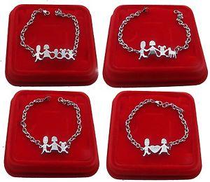 【送料無料】ブレスレット スチールカフブレスレットファミリbracciale braccialetto famiglia in acciaio mamma pap figli 12combinazioni