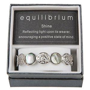 【送料無料】ブレスレット パールシェルブレスレットfiligree amp; pearl shell circles elasticated bracelet equilibrium u7x