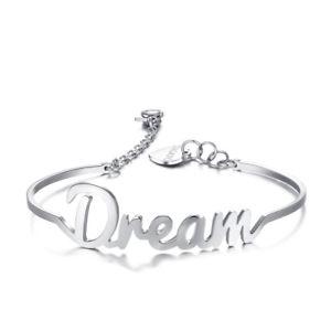 【送料無料】ブレスレット カフbracciale donna acciaio rigido sagapo write scritta dream swt12 0764 vp24