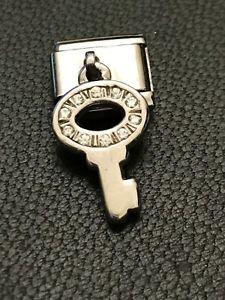 【送料無料】ブレスレット bracciale ブレスレットプレートシルバーキーpiastra argento per bracciale componibile nominationcharm componibile argento 925 chiave, OOTW:3b4789f6 --- ww.thecollagist.com