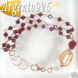 【送料無料】ブレスレット ワイヤカフbracciale tre fili cristalli alta rifrazione arg 925 aa