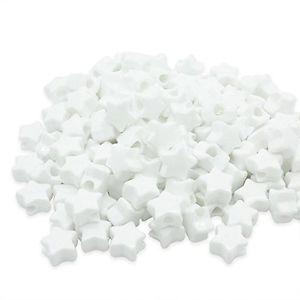 【送料無料】ブレスレット ビーズプラスチックポニーホワイトbeads unlimited plastica opaca star pony, bianco, 13mm a9k