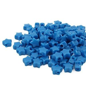 【送料無料】ブレスレット ビーズプラスチックネオンポニーターコイズトルコbeads unlimited neon plastica star pony, turchese, 13mm l4o