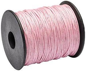 【送料無料】ブレスレット ビーズセラートカラーピンクメートルbeads unlimited cotone cerato, spesso 1 mm, 100 m, colore rosa pallido z1m